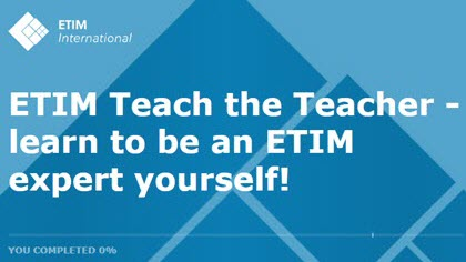 ETIM launches its 'Teach the Teacher' e-learning training program